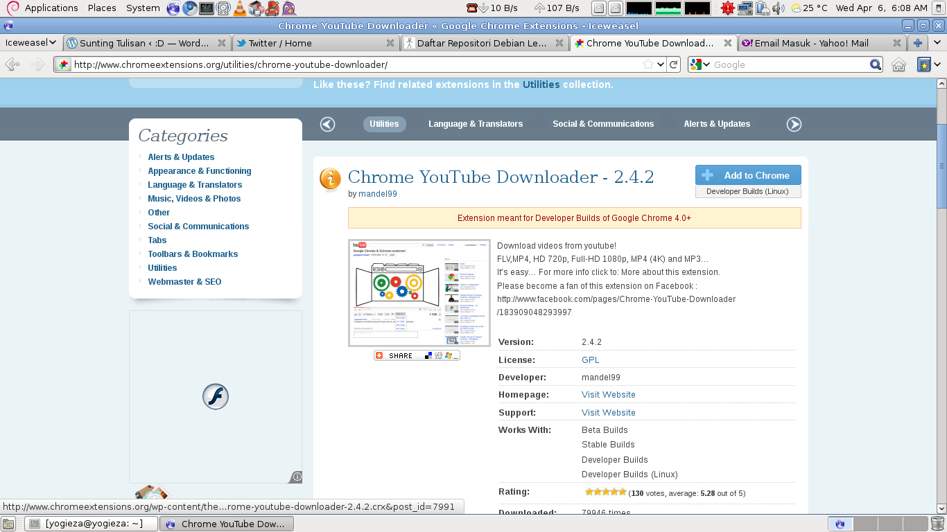 Google ChromeでYouTubeなどから動画をダウン …