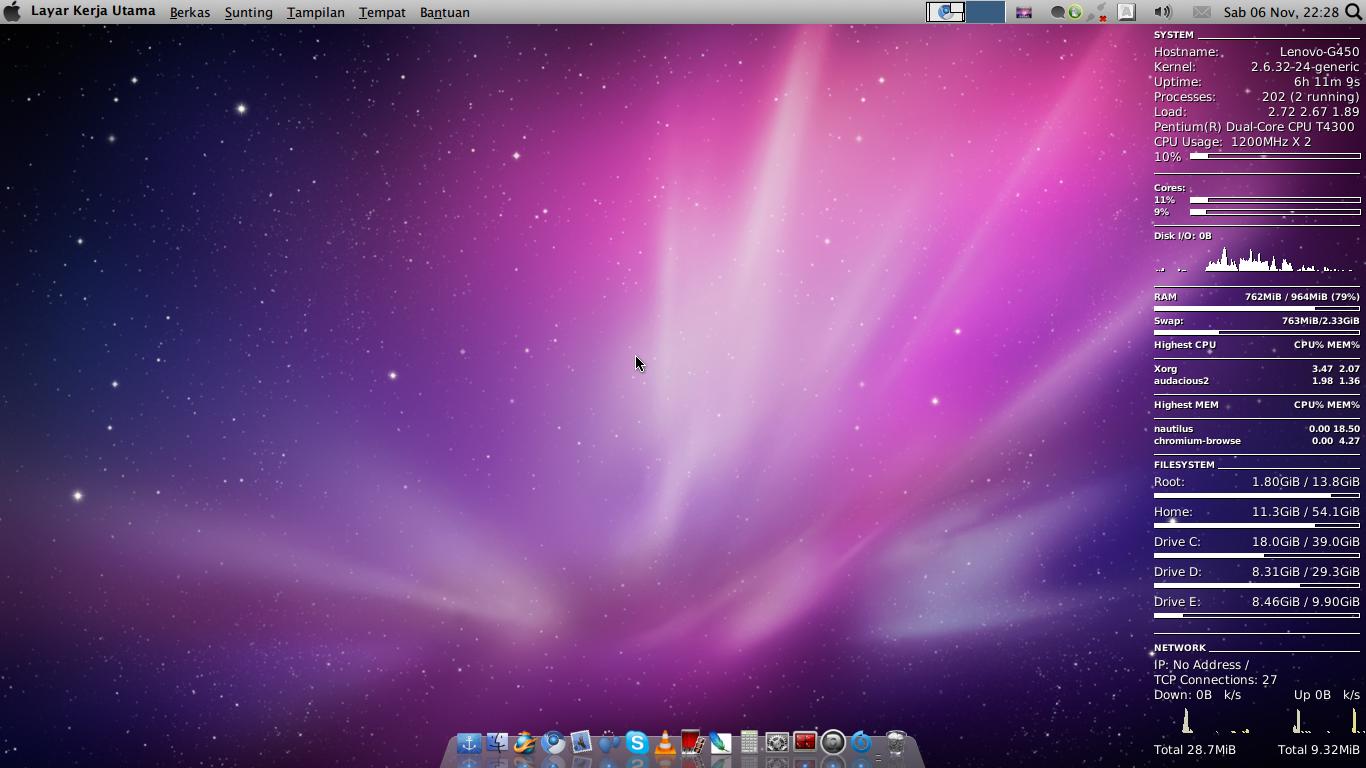 Langkah Mudah Membuat Tampilan Ubuntu Lucid Seperti Macos
