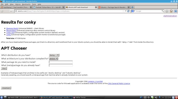 Hasil Pencarian Conky Di APT-WEB